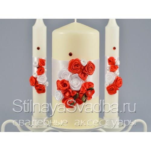 Свадебные свечи Lady in red. Фото 000.