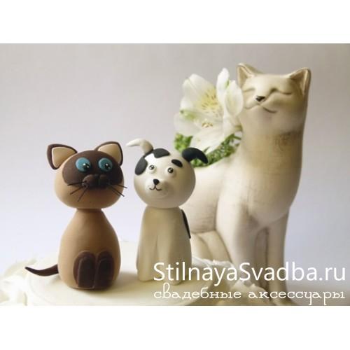 "Фигурка ""Котёнок и щенок"" фото"