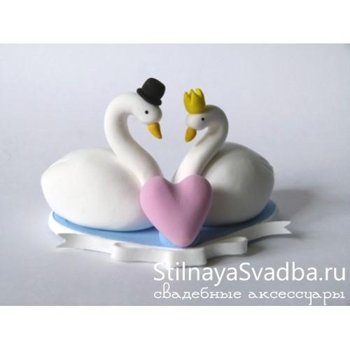 """Фигурка на торт """"Лебеди"""" фото"""
