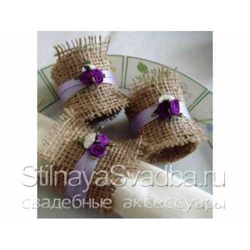 Кольца для салфеток рустикальные с цветочками фото
