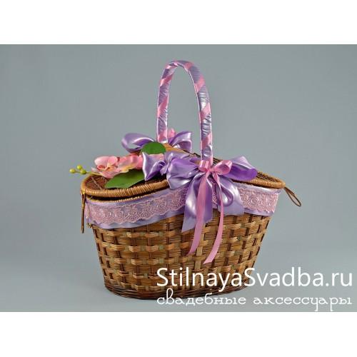 Корзина для пикника Нежность орхидеи фото