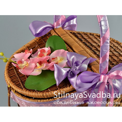 Корзина Нежность орхидеи. Фото 000.