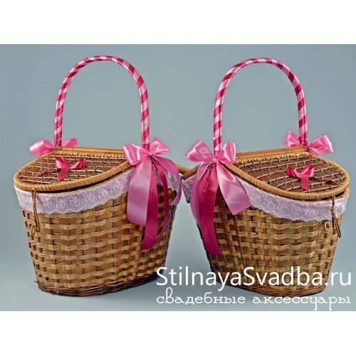 Корзины для пикника плетеные купить фото
