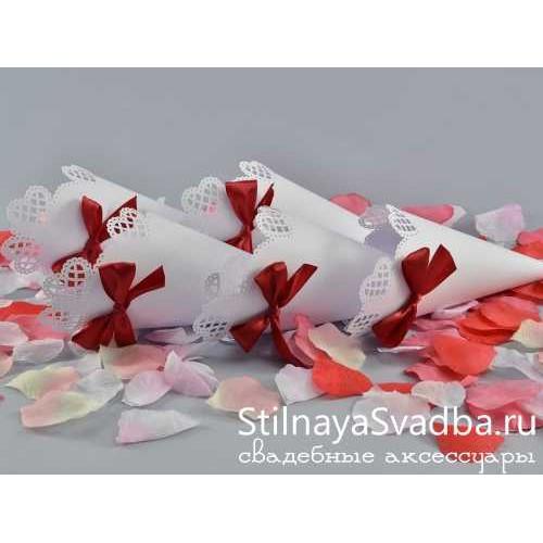 Кулечки для лепестков роз на свадьбу фото