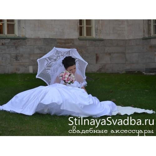 Кружевной зонт ручной вязки фото