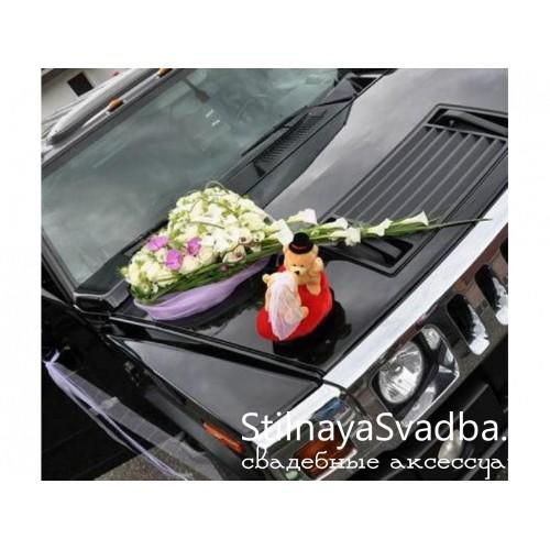 Фото. Свадебная композиция на капот машины №64-1