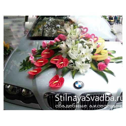 Украшение на капот свадебной машины №72 фото