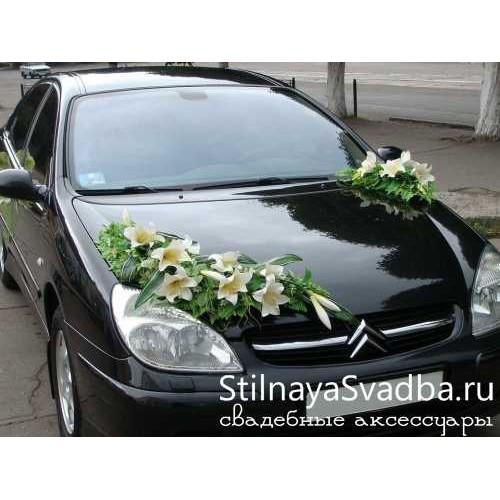 Украшение на капот свадебной машины №67 фото
