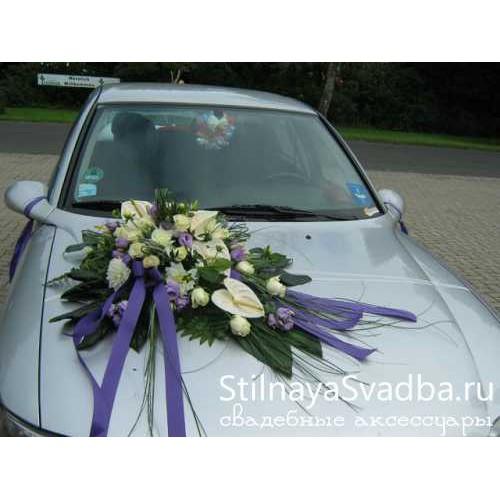 Свадебная композиция на капот машины №65 фото