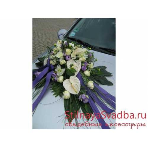 Свадебная композиция на капот машины №65. Фото 000.