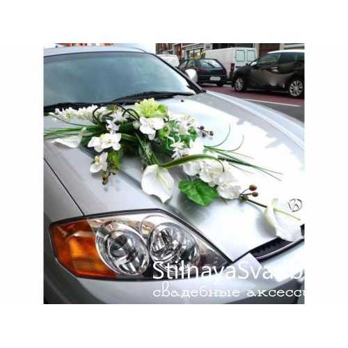 Фото. Украшение на капот свадебной машины №69