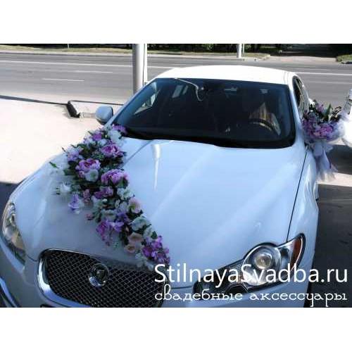 Украшение на капот свадебной машины №66 фото