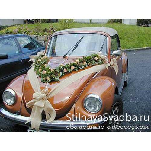 Свадебный декор ретро- автомобиля фото