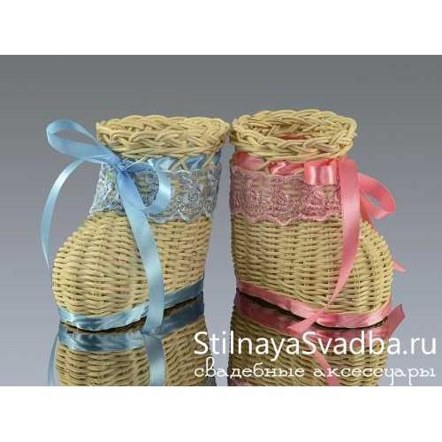 Ботиночки плетёные для конкурса фото