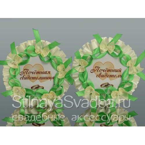 Значки для свидетелей в яблочном цвете фото