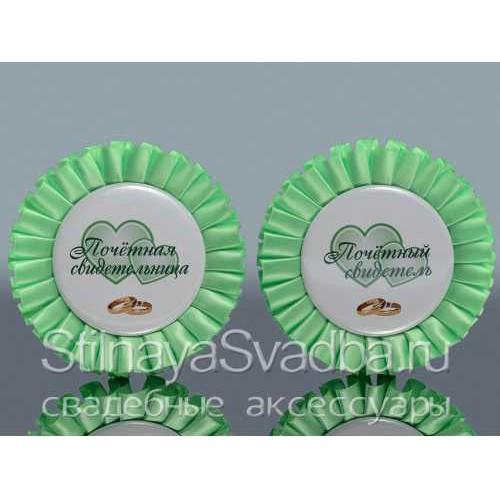 Значки для свидетелей, зелёные фото