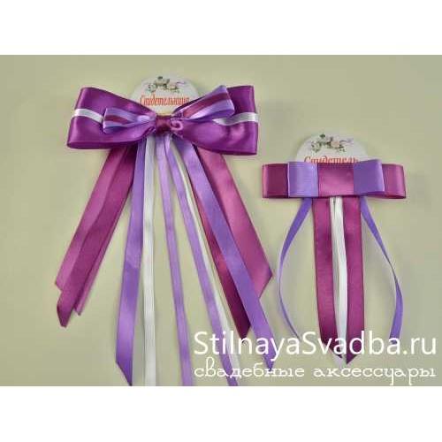 """Значки для свидетелей """"Violet dreams"""" фото"""