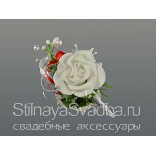 Бутоньерка для жениха Lady in red фото