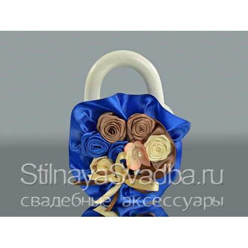Свадебный замок в сине-шоколадной гамме фото
