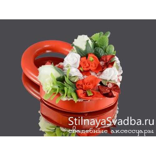 Замочек с цветами, красный. Фото 000.