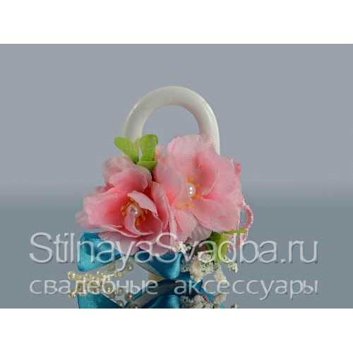 Замок свадебный розово-бирюзовый фото