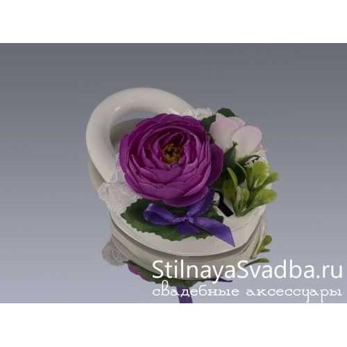 Фото. Замочек свадебный Лилова роза