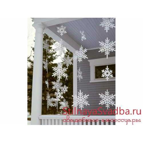 Гирлянды-снежинки фото