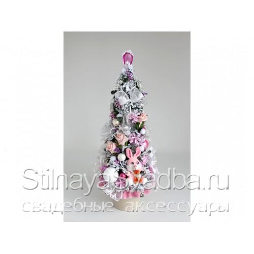 Елка для принцессы бело-розовая фото