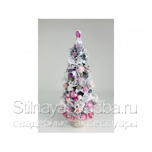 Елка для принцессы бело-розовая. Фото 000.