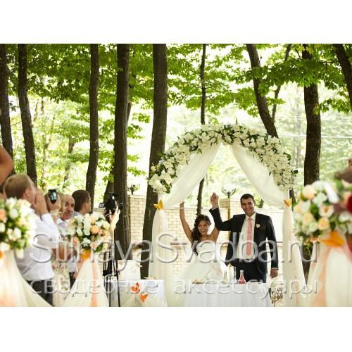 Выездная регистрация и декор свадьбы в пастельных тонах фото