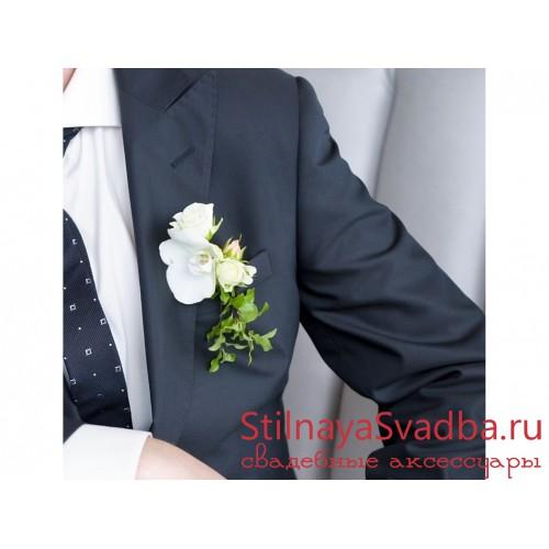 Бутоньерка жениха №1 фото