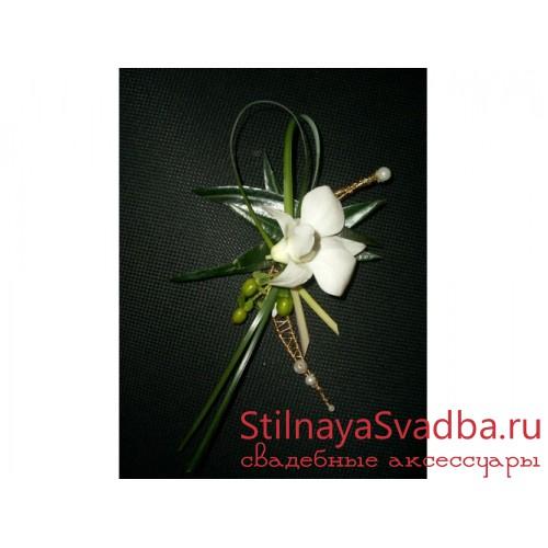 Бутоньерка жениха №17 фото