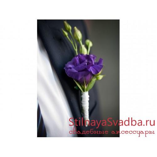 Бутоньерка жениха №12 фото