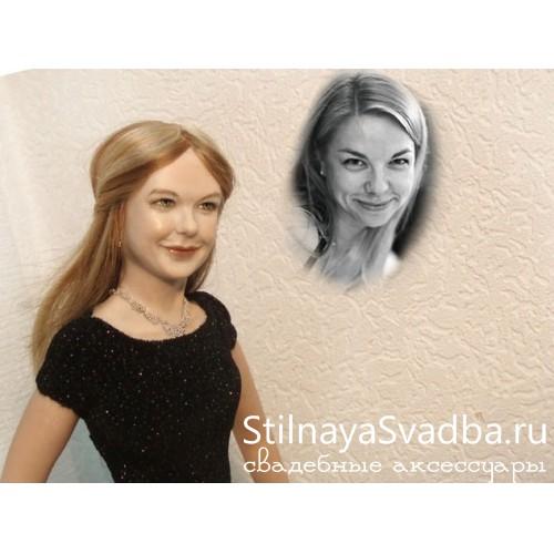 Lady in black пример портретной куклы фото