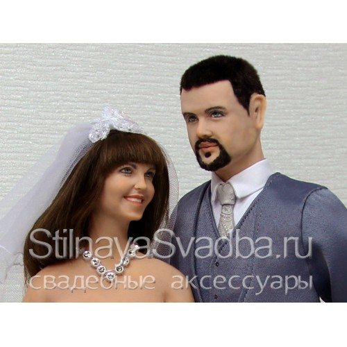 Портретные куклы жених и невеста. Фото 000.