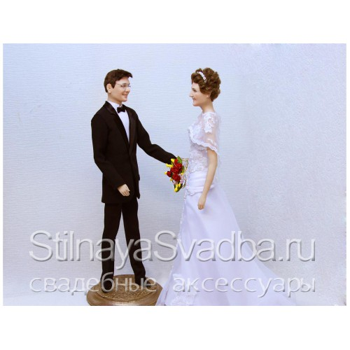 Портретные куклы молодожёнов в подарок на свадьбу фото