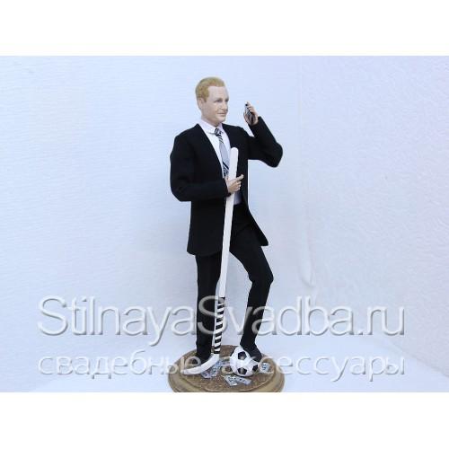 Портретная кукла бизнесмена-спорсмена фото