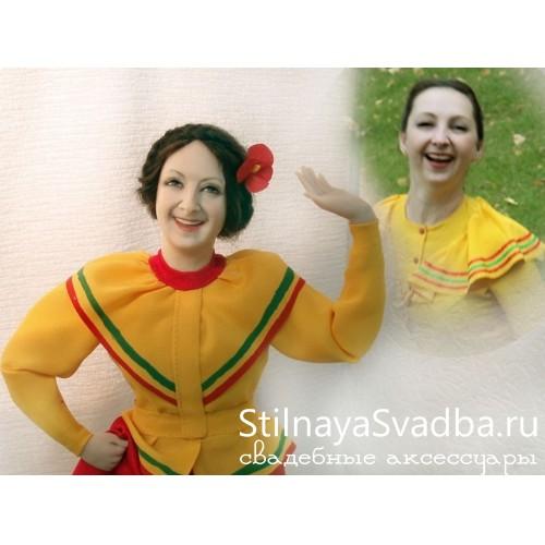 "Статичная портретная кукла ""Веселушка"" фото"