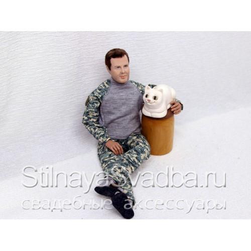 Шарнирная портретная кукла мужчины фото