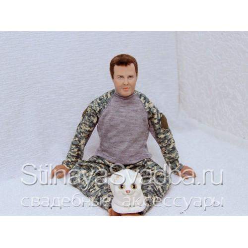 Шарнирная портретная кукла мужчины. Фото 000.