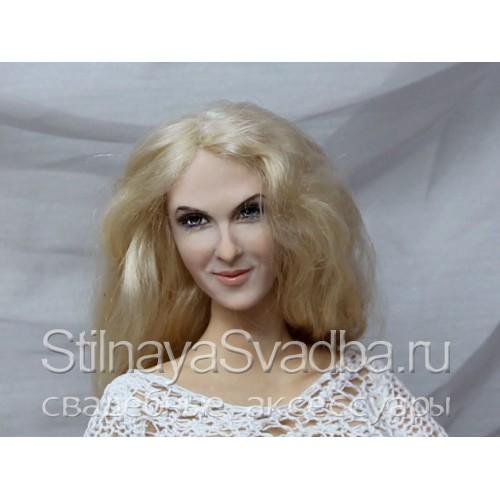 Кукла-портрет девушки в позрачном одеянии. Фото 000.
