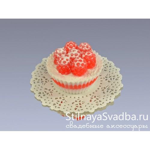 Фото. Мыло декоративное Кекс с малинкой