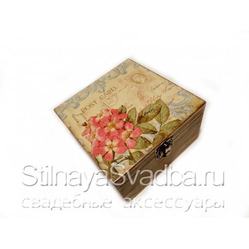 Шкатулочка с цветами. Фото 000.