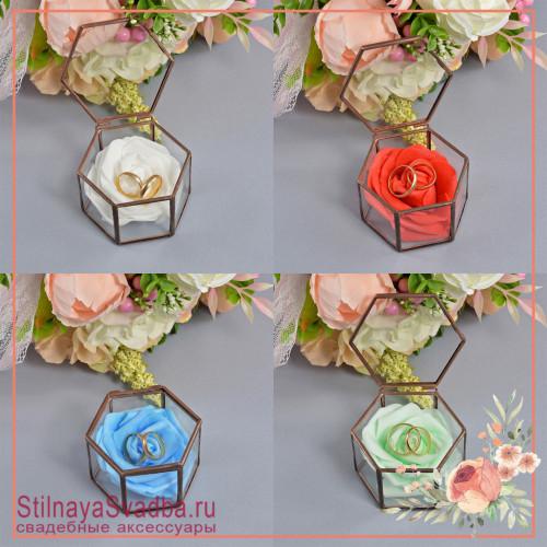 Флорариум в форме миниатюрной шестигранной  в ассортименте фото