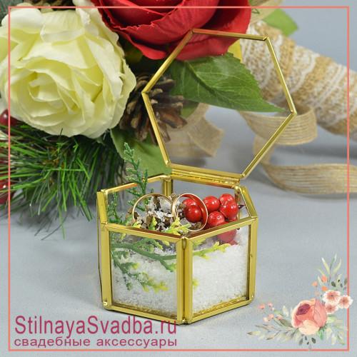 Стеклянная шкатулка для зимней свадьбы фото