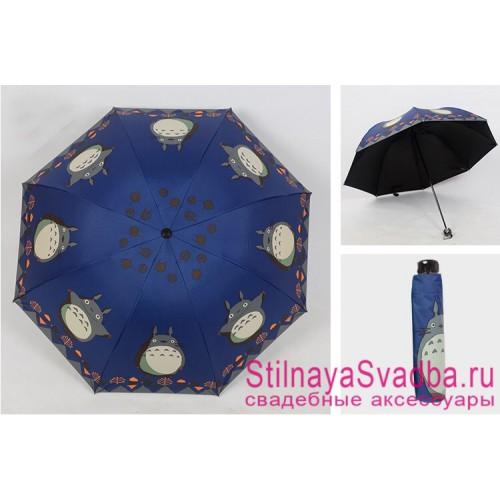 Зонтик с Тоторо  синий фото