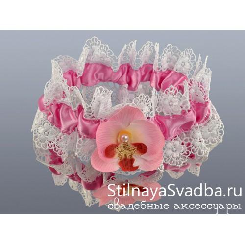 Подвязка кружевная Нежность орхидеи фото