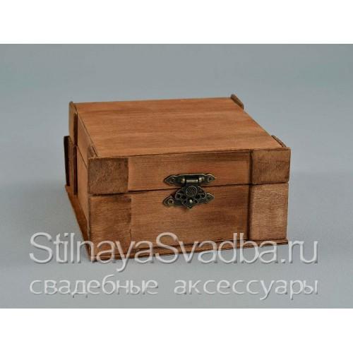 Шкатулка  рустикальнаяс подушечкой изо мха. Фото 000.
