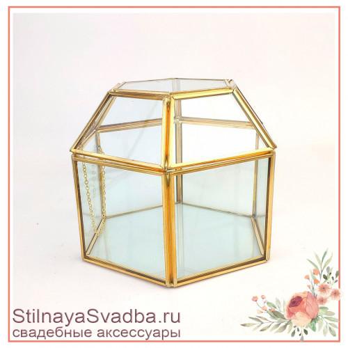 Шкатулка шестигранник с крышкой соты без декора фото