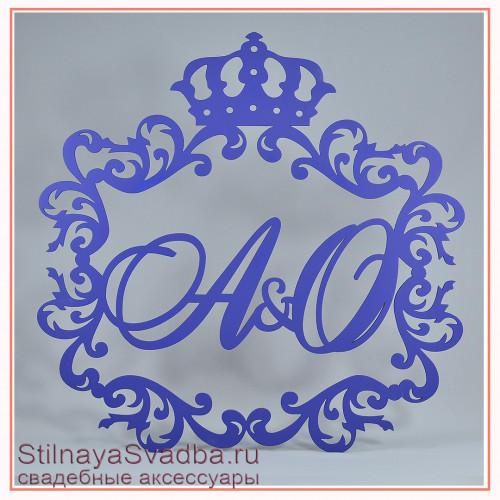 Лазерная резка герб синий фото